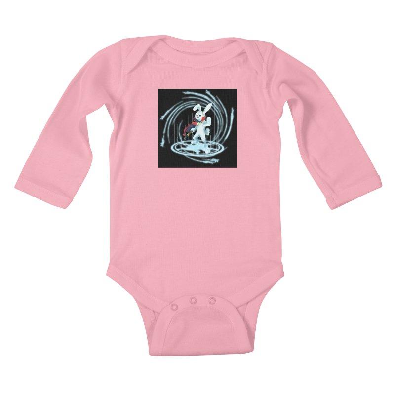 CAPTAIN RABBITFORD OF TE ORDER OF THE PLUSH Kids Baby Longsleeve Bodysuit by droidmonkey's Artist Shop