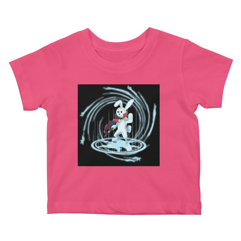 CAPTAIN RABBITFORD OF TE ORDER OF THE PLUSH Kids Baby T-Shirt by droidmonkey's Artist Shop