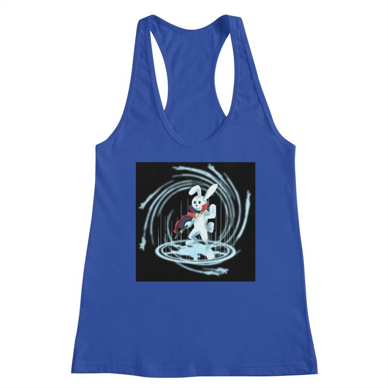 CAPTAIN RABBITFORD OF TE ORDER OF THE PLUSH Women's Racerback Tank by droidmonkey's Artist Shop