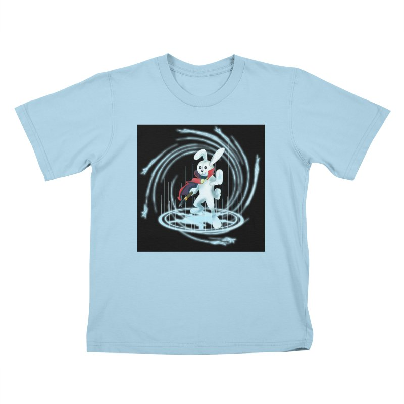 CAPTAIN RABBITFORD OF TE ORDER OF THE PLUSH Kids T-Shirt by droidmonkey's Artist Shop