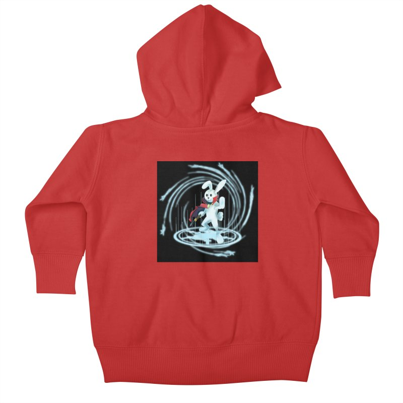 CAPTAIN RABBITFORD OF TE ORDER OF THE PLUSH Kids Baby Zip-Up Hoody by droidmonkey's Artist Shop