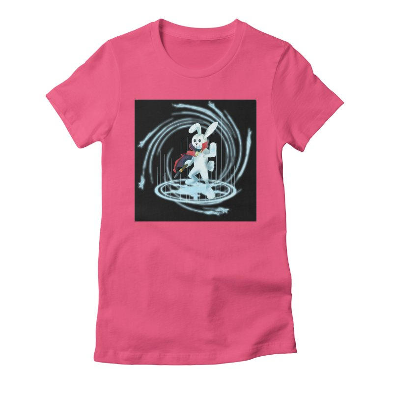 CAPTAIN RABBITFORD OF TE ORDER OF THE PLUSH Women's Fitted T-Shirt by droidmonkey's Artist Shop
