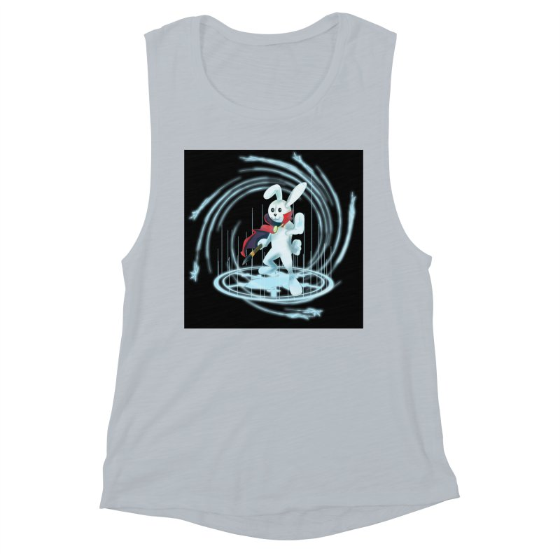 CAPTAIN RABBITFORD OF TE ORDER OF THE PLUSH Women's Muscle Tank by droidmonkey's Artist Shop