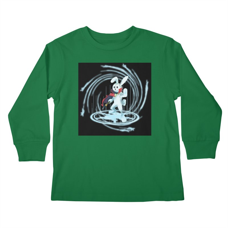 CAPTAIN RABBITFORD OF TE ORDER OF THE PLUSH Kids Longsleeve T-Shirt by droidmonkey's Artist Shop