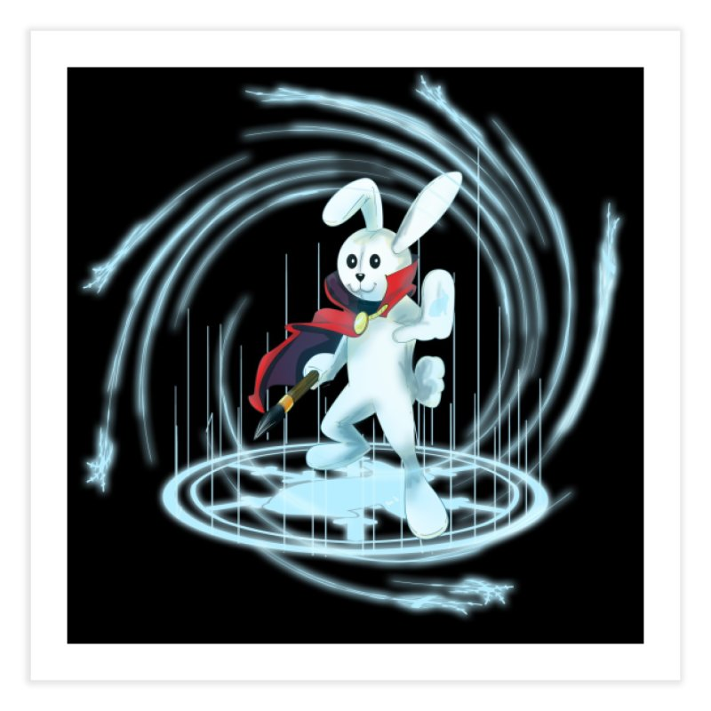 CAPTAIN RABBITFORD OF TE ORDER OF THE PLUSH Home Fine Art Print by droidmonkey's Artist Shop