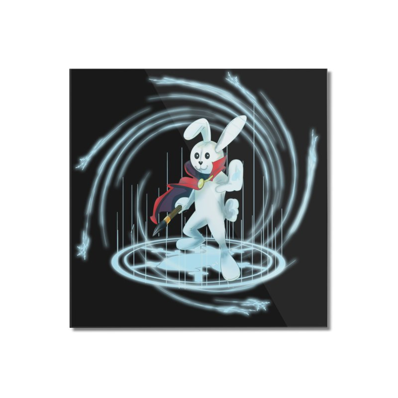 CAPTAIN RABBITFORD OF TE ORDER OF THE PLUSH Home Mounted Acrylic Print by droidmonkey's Artist Shop
