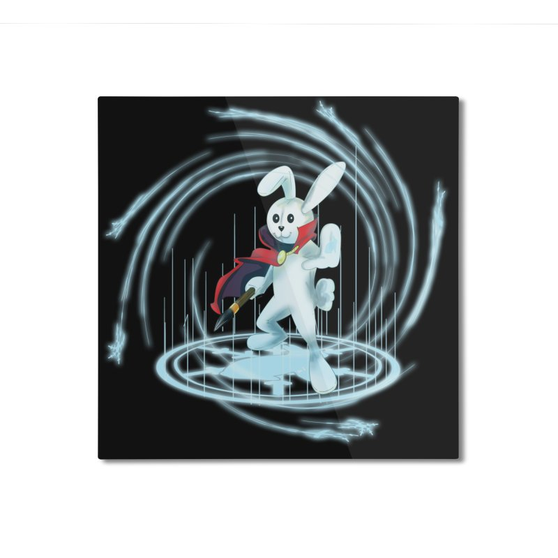 CAPTAIN RABBITFORD OF TE ORDER OF THE PLUSH Home Mounted Aluminum Print by droidmonkey's Artist Shop