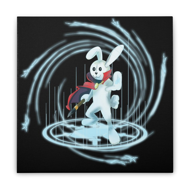 CAPTAIN RABBITFORD OF TE ORDER OF THE PLUSH Home Stretched Canvas by droidmonkey's Artist Shop