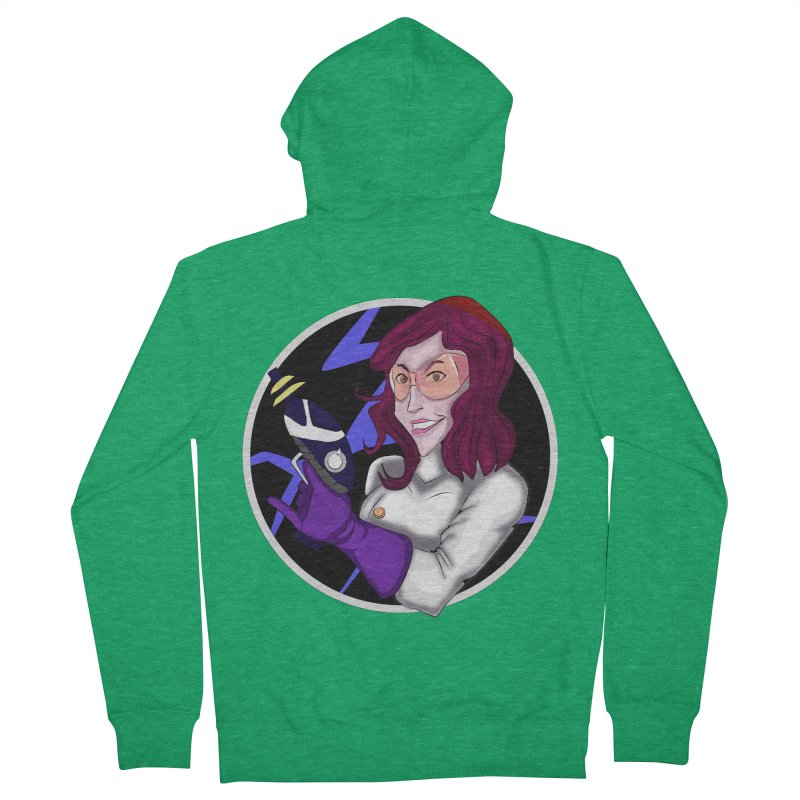 MAD SCIENTIST Women's French Terry Zip-Up Hoody by droidmonkey's Artist Shop