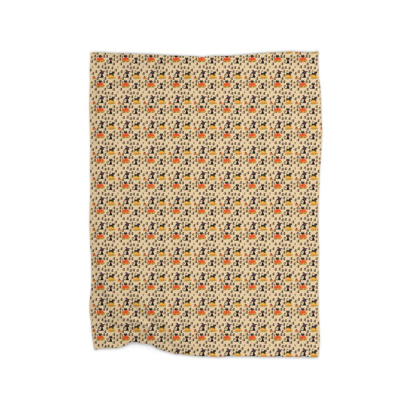 AUTUMN CAT Home Fleece Blanket Blanket by droidmonkey's Artist Shop