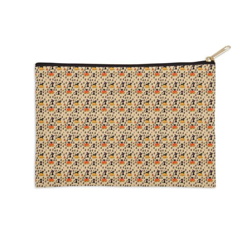 AUTUMN CAT Accessories Zip Pouch by droidmonkey's Artist Shop