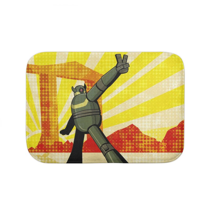 Robot Home Bath Mat by droidmonkey's Artist Shop