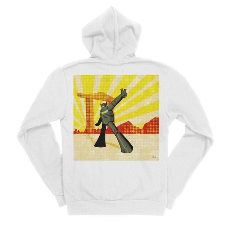 Robot Men's Sponge Fleece Zip-Up Hoody by droidmonkey's Artist Shop