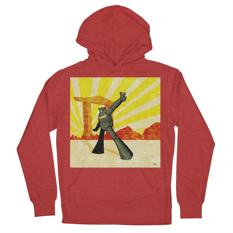 Robot Women's French Terry Pullover Hoody by droidmonkey's Artist Shop