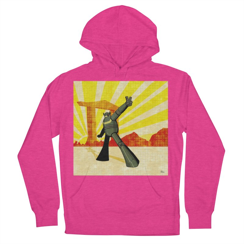 Robot Men's French Terry Pullover Hoody by droidmonkey's Artist Shop