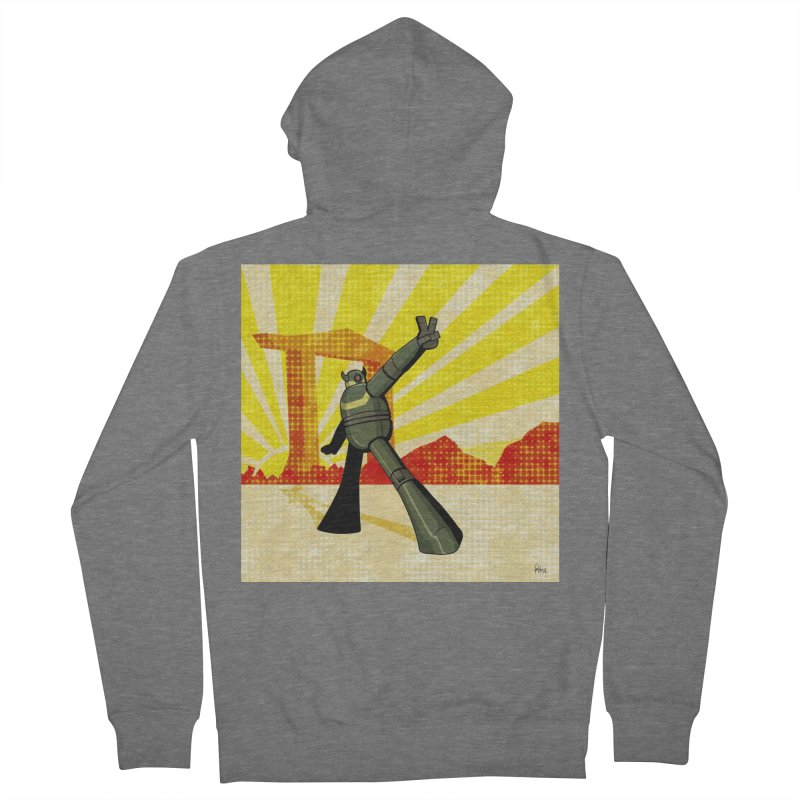Robot Women's French Terry Zip-Up Hoody by droidmonkey's Artist Shop