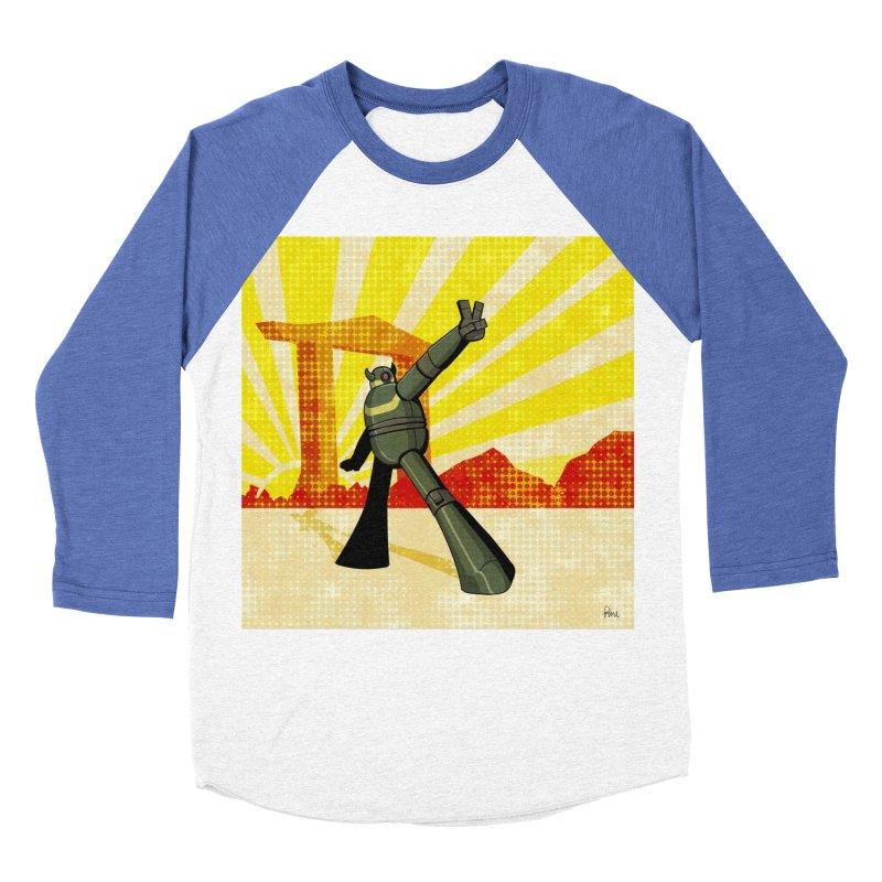 Robot Men's Baseball Triblend Longsleeve T-Shirt by droidmonkey's Artist Shop