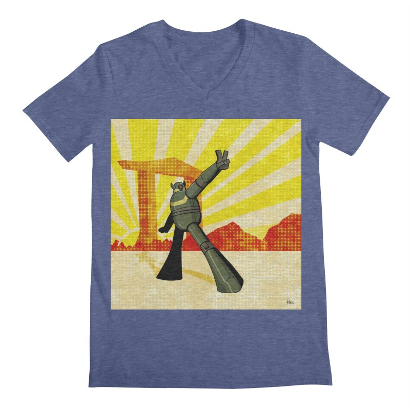 Robot Men's Regular V-Neck by droidmonkey's Artist Shop