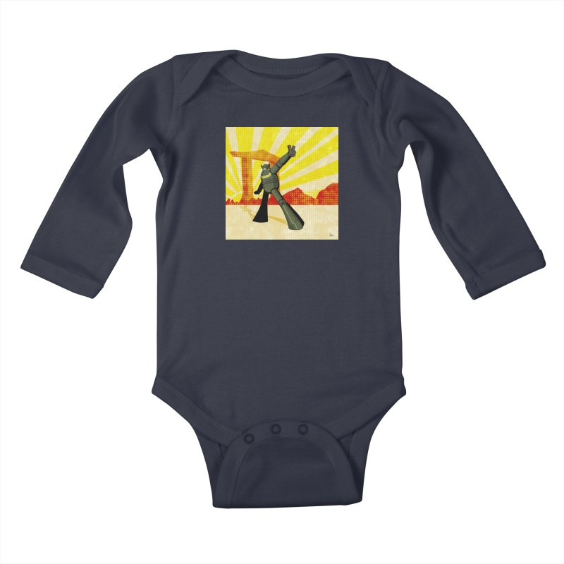 Robot Kids Baby Longsleeve Bodysuit by droidmonkey's Artist Shop