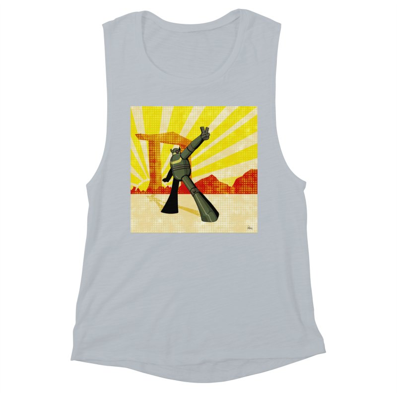 Robot Women's Muscle Tank by droidmonkey's Artist Shop