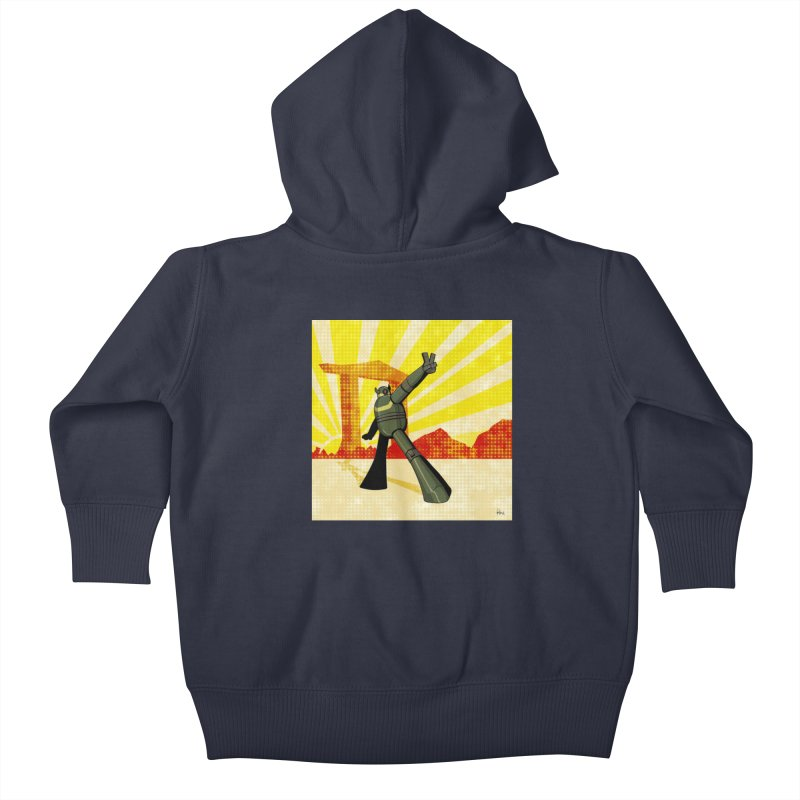Robot Kids Baby Zip-Up Hoody by droidmonkey's Artist Shop