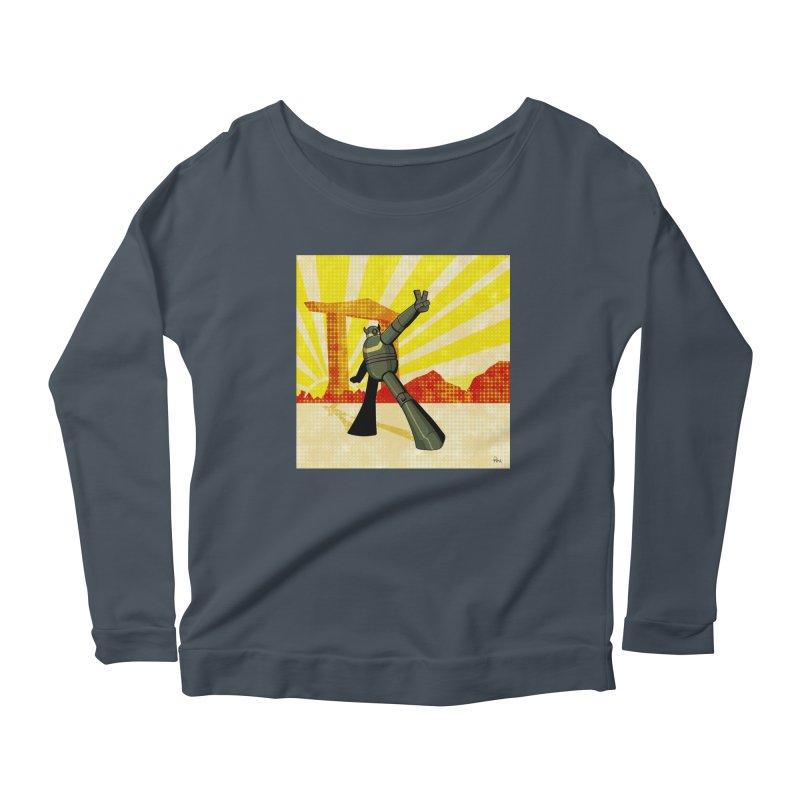 Robot Women's Scoop Neck Longsleeve T-Shirt by droidmonkey's Artist Shop
