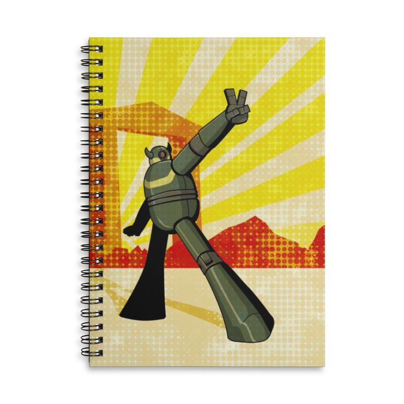 Robot Accessories Lined Spiral Notebook by droidmonkey's Artist Shop