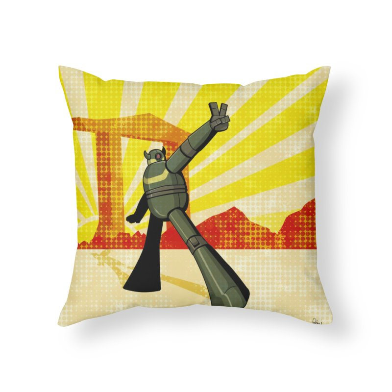 Robot Home Throw Pillow by droidmonkey's Artist Shop