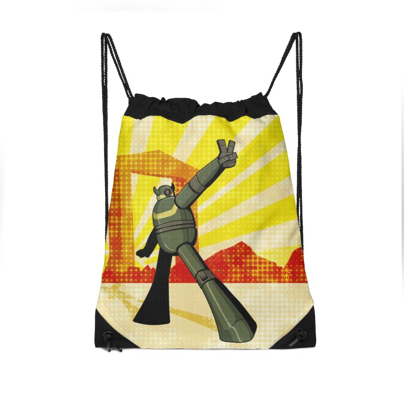Robot Accessories Drawstring Bag Bag by droidmonkey's Artist Shop