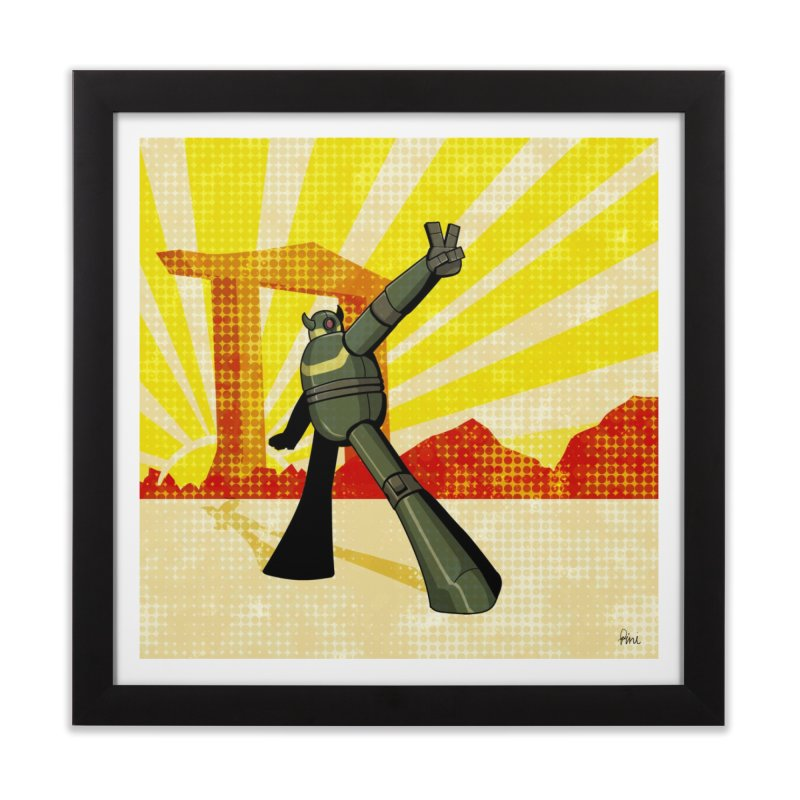 Robot Home Framed Fine Art Print by droidmonkey's Artist Shop