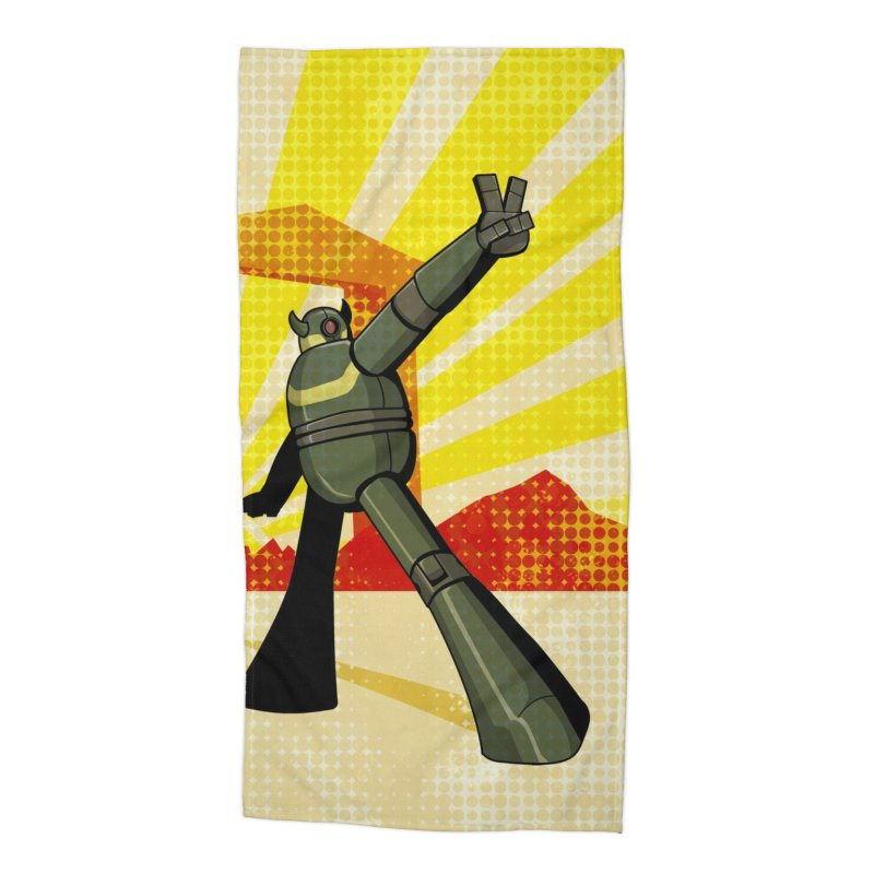Robot Accessories Beach Towel by droidmonkey's Artist Shop