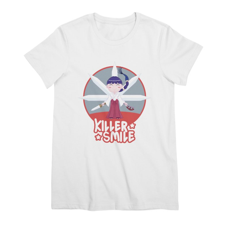 KILLER SMILE Women's Premium T-Shirt by droidmonkey's Artist Shop