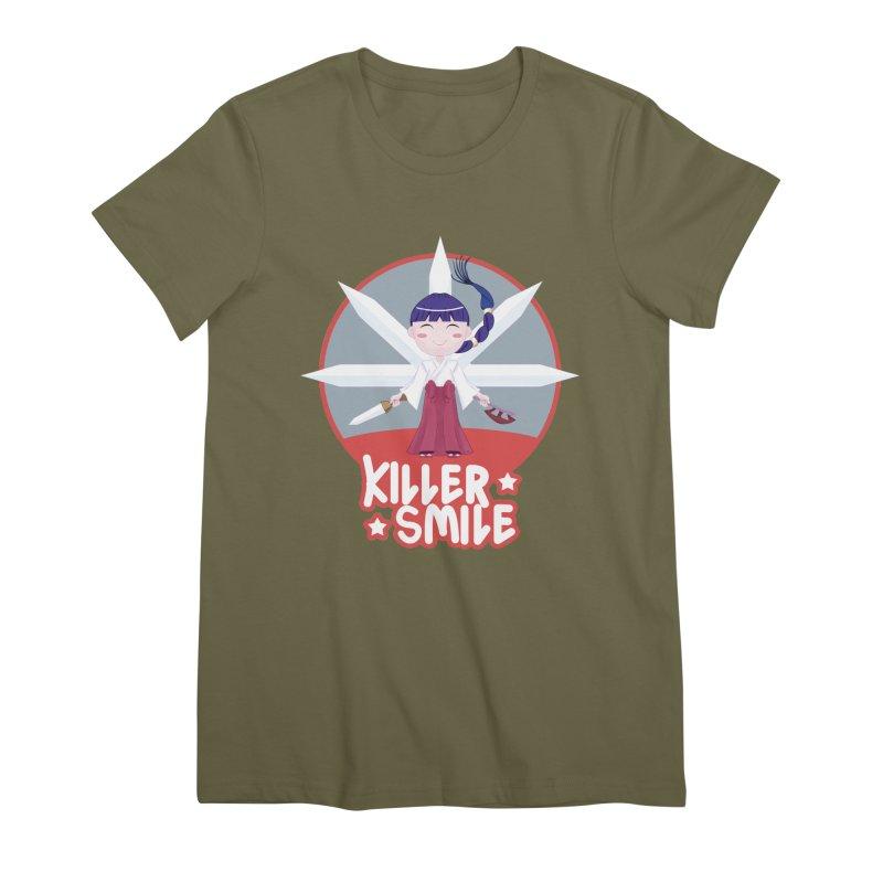 KILLER SMILE Women's Premium T-Shirt by droidmonkey's Artist Shop