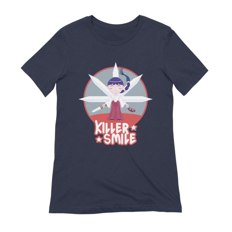 KILLER SMILE Women's Extra Soft T-Shirt by droidmonkey's Artist Shop