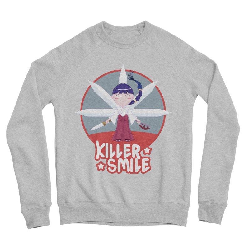 KILLER SMILE Women's Sponge Fleece Sweatshirt by droidmonkey's Artist Shop