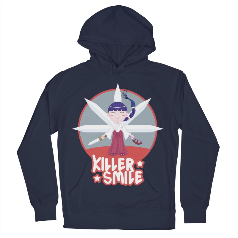 KILLER SMILE Women's French Terry Pullover Hoody by droidmonkey's Artist Shop