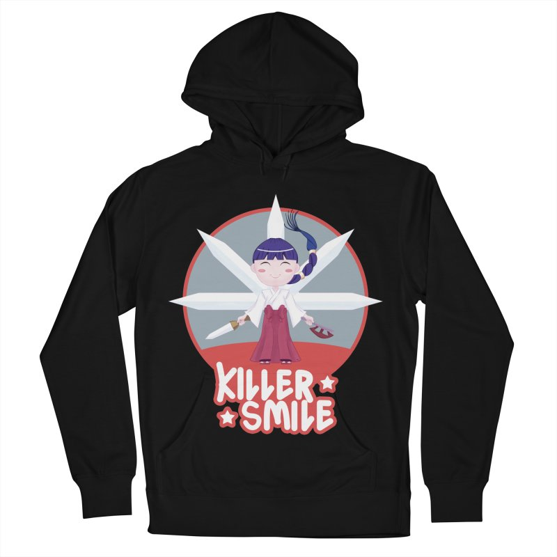 KILLER SMILE Men's French Terry Pullover Hoody by droidmonkey's Artist Shop