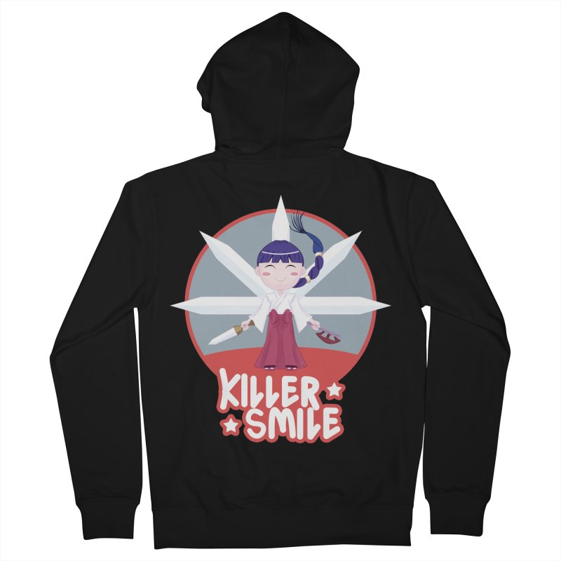 KILLER SMILE Women's French Terry Zip-Up Hoody by droidmonkey's Artist Shop