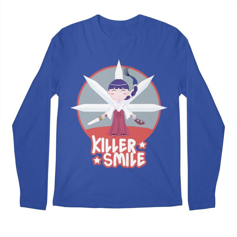 KILLER SMILE Men's Regular Longsleeve T-Shirt by droidmonkey's Artist Shop