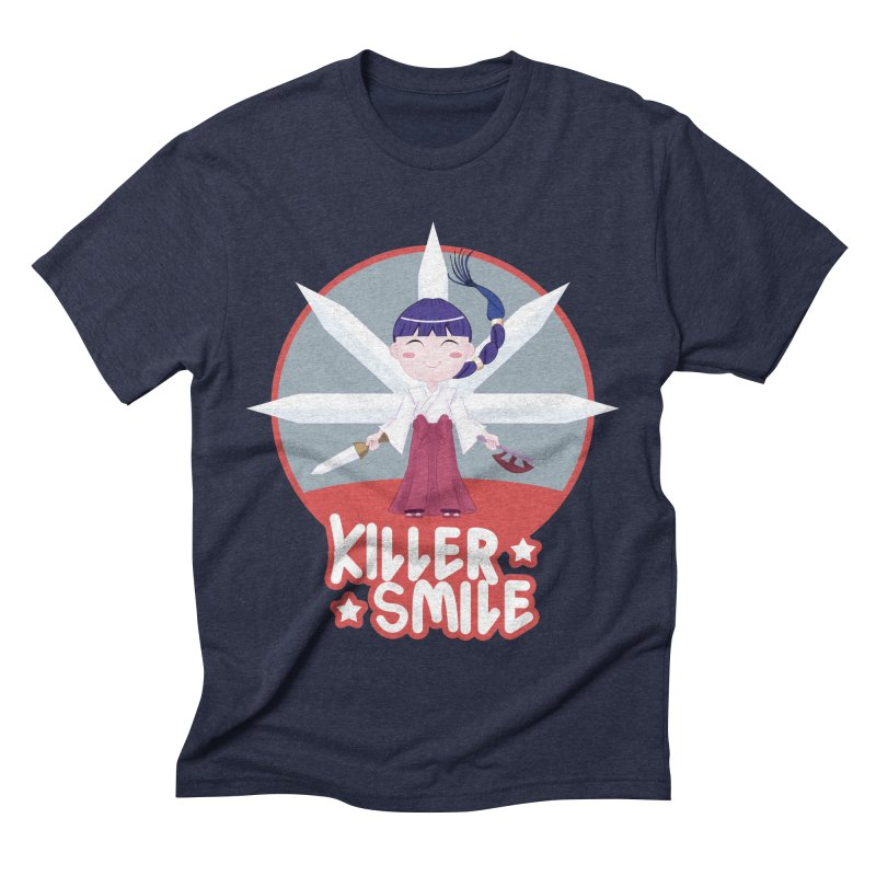 KILLER SMILE Men's Triblend T-Shirt by droidmonkey's Artist Shop