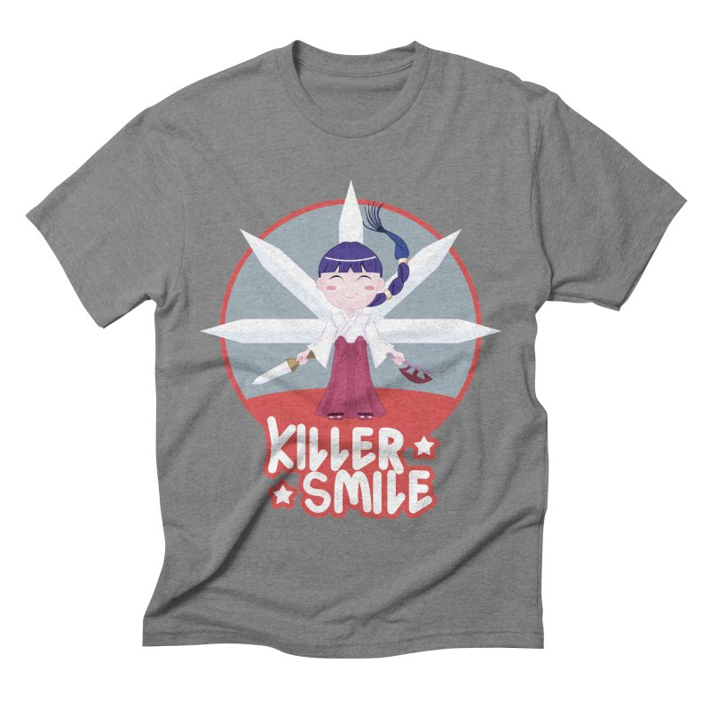 KILLER SMILE Men's Triblend T-Shirt by droidmonkey's Artist Shop