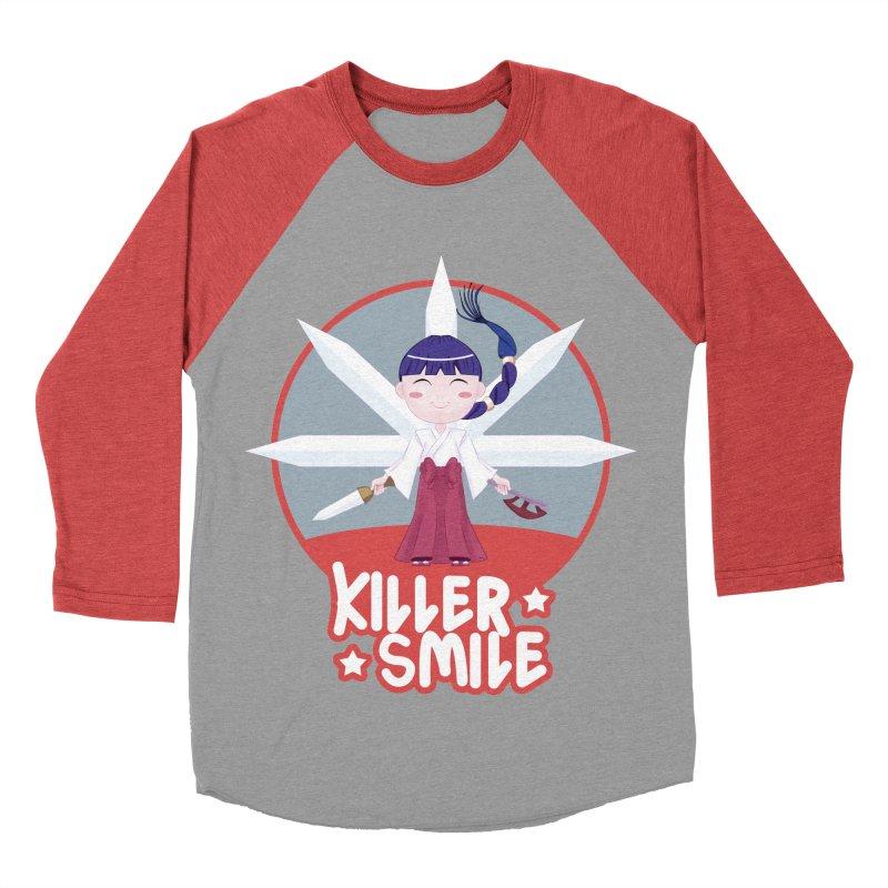 KILLER SMILE Women's Baseball Triblend Longsleeve T-Shirt by droidmonkey's Artist Shop