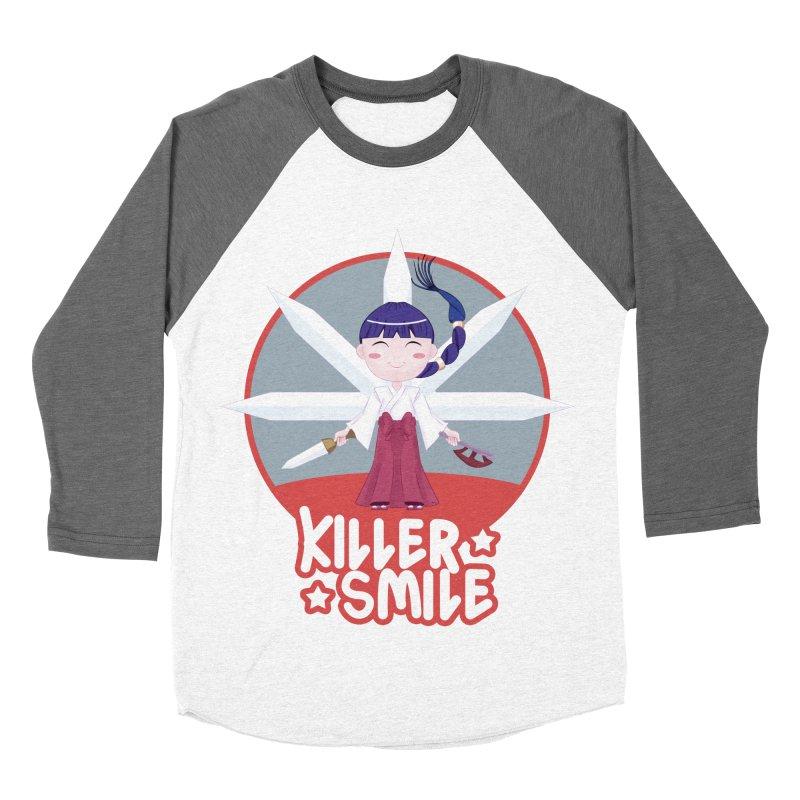 KILLER SMILE Men's Baseball Triblend Longsleeve T-Shirt by droidmonkey's Artist Shop