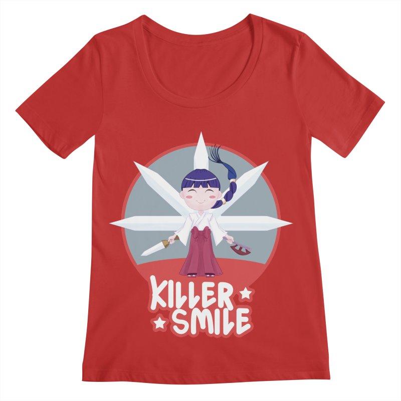 KILLER SMILE Women's Regular Scoop Neck by droidmonkey's Artist Shop