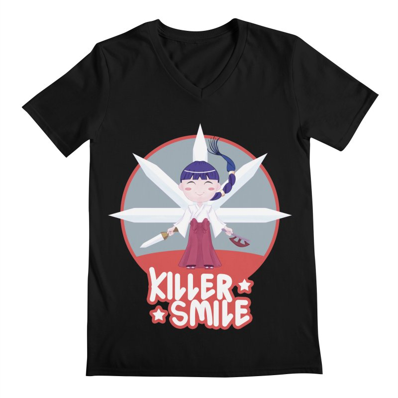 KILLER SMILE Men's Regular V-Neck by droidmonkey's Artist Shop