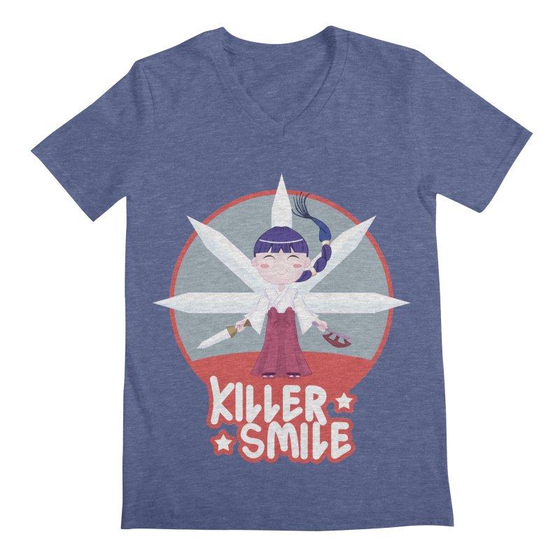 KILLER SMILE Men's Regular V-Neck by droidmonkey's Artist Shop