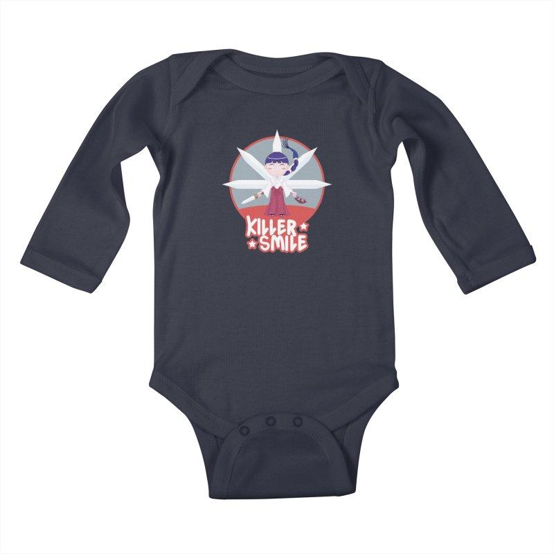 KILLER SMILE Kids Baby Longsleeve Bodysuit by droidmonkey's Artist Shop