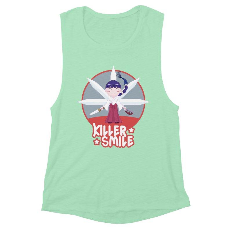 KILLER SMILE Women's Muscle Tank by droidmonkey's Artist Shop
