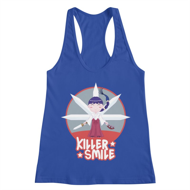 KILLER SMILE Women's Racerback Tank by droidmonkey's Artist Shop