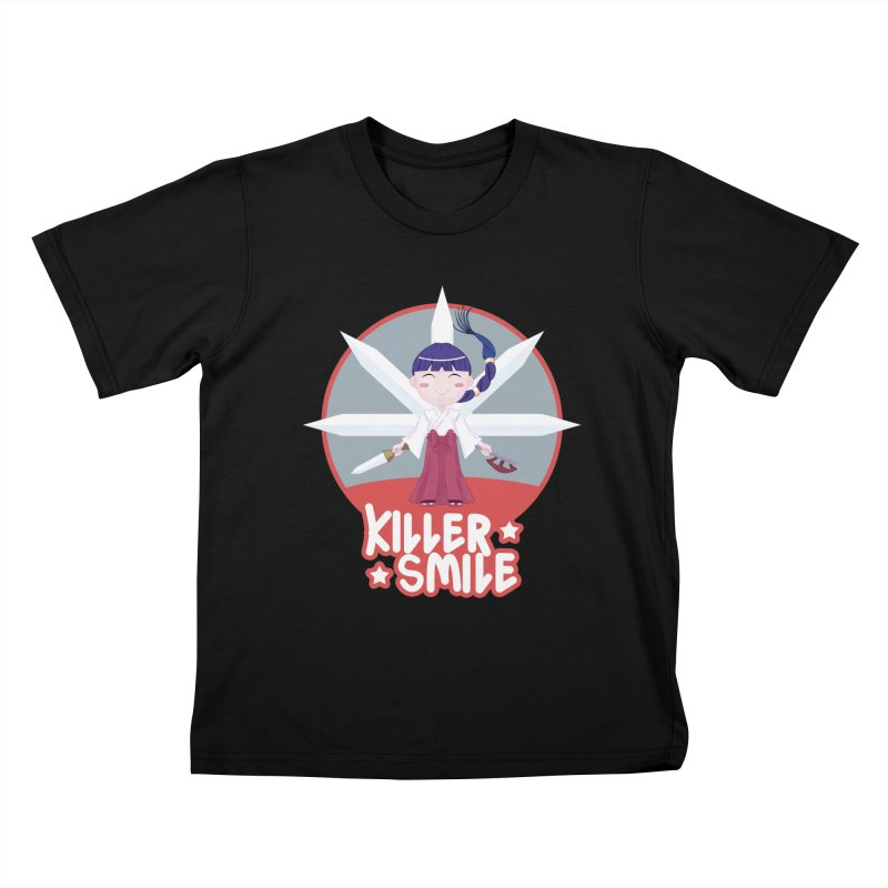 KILLER SMILE Kids T-Shirt by droidmonkey's Artist Shop